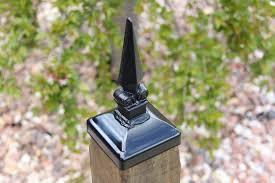 Wrought Iron Norwegian Lyre 4x4 Post Cap Mailbox Post Cap Wood Fence Post Cap