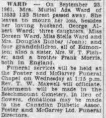 Obituary for Murial Ada WARD - Newspapers.com