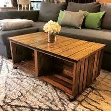 our diy wood crate coffee table how we