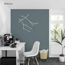 Makeyes Gemini Constellation Wall Decal Wall Sticker Celestial Wall Decal Home Room Decoration Zodiac Sign Wall Sticker Q317 Wall Stickers Aliexpress