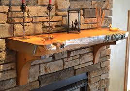wood log fireplace mantels enterprise