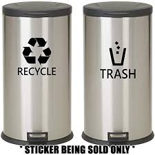 Choose Size Color Trash Can Vinyl Sticker Decal Waste Recycle