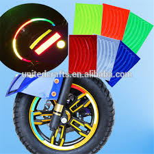 Blue Wheel Rim Stripe New Reflective Decal Tape Sticker For Car Motorcycle Cycling Bike Bicycle Reflective Bicycle Spokes Buy Reflective Decal Sticker Reflective Sticker For Car Motorcycle Cycling New Stickers For Bike Product