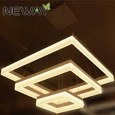 modern square led acrylic pendant light