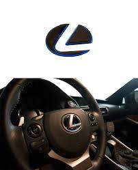 Lexus Is F Sport Gs Es Rx Nx Blue Black Steering Wheel Emblem Decal Sticker Ebay