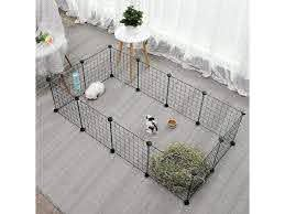 Portable Pet Playpen Puppy Dog Fences Gate Home Indoor Outdoor Fence Exercise Newegg Com