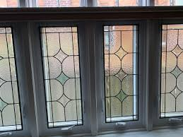 classic leaded glass windows installed