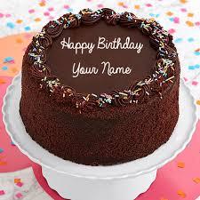 three layer chocolate happy birthday