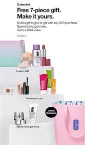free 7 piece gift clinique clinique