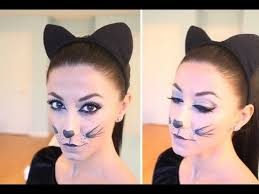kitty cat halloween make up you