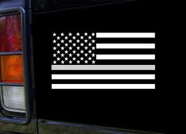 Support Correctional Officers Thin Silver Line Flag Vinyl Etsy