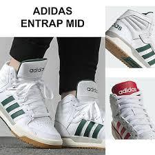 mens adidas entrap mid 3 stripe mid top
