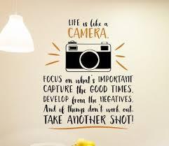 Camera Wall Decal Camera Wall Art Photography Decal Camera Etsy