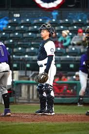 Tacoma Rainiers catcher Jose Lobaton - April 13, 2019 Photo on ...