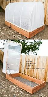 greenhouse raised garden bed outdoor