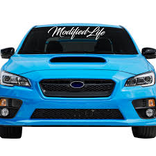 Modified Life Car Windshield Banner Decal Sticker 6 Tall X 24 Wide