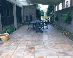 slate patio backyard external outdoor