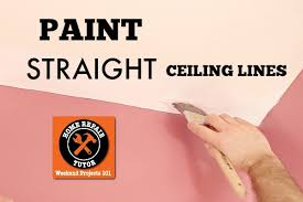 how to pain a straight ceiling line and