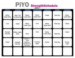 piyo workout calendar print a workout