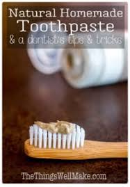 natural homemade toothpaste recipes