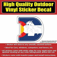 Denver Broncos D Colorado Flag Vinyl Car Window Laptop Bumper Sticker Decal Ebay