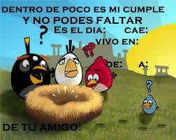 Tarjetas De Invitacion A Cumpleanos Angry Birds Para El Movil 8 Hd