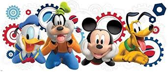 Amazon Com Defonia Mouse Clubhouse Giant Wall Decal Room Decor Stickers Goofy Pluto Home Kitchen