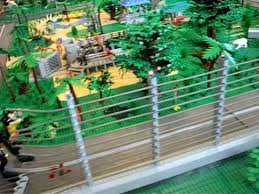 Electric Fence In The Jurassic Park Lego Layout Youtube