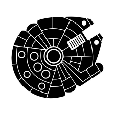 Wall Decals Stickers Home Decor Items Star Wars Millennium Falcon White Cut Vinyl Sticker Decal Home Furniture Diy Home Decor Items