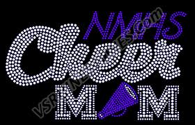 Personalized Cheer Mom Car Rhinestone Decal 22 00 Vs Rhinestone Designs Radiant Rhinestone Transfers Designs And Apparel