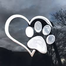 3d Heart Paw Decal Top Pet Gifts