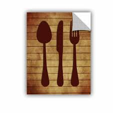 Winston Porter Kitchen 2 Utensils Removable Wall Decal Wayfair