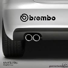 2x Brembo Logo Sticker Decal Drift Car Bumper Vw Van Funny Drift Jdm 4x4 Vinyl