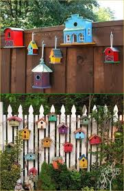 43 Gorgeous Fence Outdoor Spring Decorating Ideas Craft And Home Ideas Backyard Fence Decor Fence Decor Decorative Bird Houses