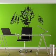 Shop Full Color Tiger Huge Wall Sticker Tiger Wall Decal Wall Art Tiger Wall Decor Sticker Decal Size 22x30 22 X 30 Overstock 14355991