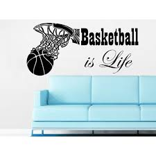 Shop Basketball Is Life Wall Decal Quote Basketball Hoop Wall Decals Sports Sticker Decal Size 33x45 Color Black 33 X 45 Overstock 14155108