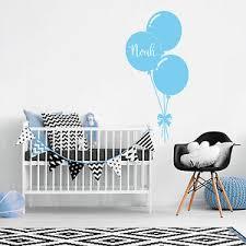 Custom Name Personalise Balloon Kids Baby Boy Bedroom Wall Sticker Nursery Decal Ebay