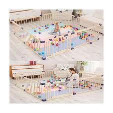 Size 180 200cm Pnfp Baby Playpen Baby Play Fence Baby Crawl Toddler Fence Solid Wood Indoor Child Safety Fence Fence Strong And Durable Made From High Quality Playpens