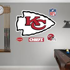 Shop Fathead Kansas City Chiefs Logo Wall Decals Overstock 9569470