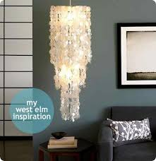 capiz shell chandelier from wax paper