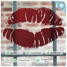 Lipstick Lips Kiss Window Cling For Valentines Decorations And Love Window Flakes