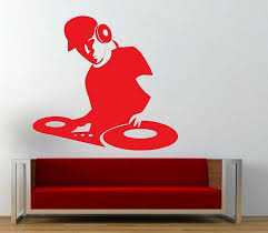 Dj Wall Sticker Music Wall Art Decal For Boys Room Decor Baby Nursery Wall Decals Baby Nursery Wall Stickers From Flylife 4 81 Dhgate Com