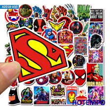 Super Hero Cartoon Comic Anime Stickers Pack Movies Character Men Mobile Phone Laptop Luggage Skateboard Car Decal Stickers Color Az018 A50 50pcs