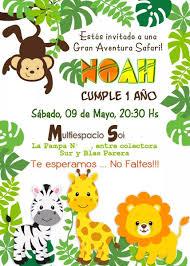 Invitaciones Digitales Personalizadas Whatsapp Selva Safari Bs