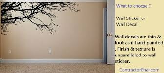 What Is The Difference Between Wall Sticker And Wall Decal Contractorbhai