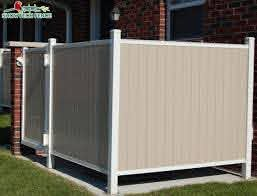 China Cheap Pvc Tan Color 6 H 8 W Vinyl Privacy Garden Fence Panels China Pvc Privacy Fence Pvc Fence Factory