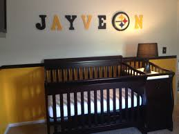 Steelers Nursery Football Baby Rooms Nursery Room Boy Baby Nursery Themes