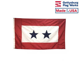 Service Star Flag 2 Blue Stars 3x5 Service Star Flags Support Our