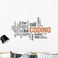 Coding Word Cloud Wall Decal Wallmonkeys Com