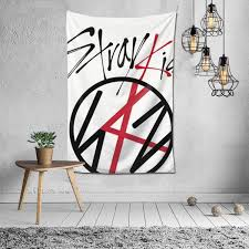 Amazon Com Woidxzxza Stray Kids Tapestry Wall Hanging With Art Nature Home Decorations For Living Room Bedroom Home Kitchen
